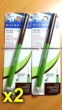 2x 803 Chestnut Brown Maybelline Define A Line Eyeliner