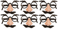DISGUISE SET GLASSES EYEBROWS FALSE NOSE MOUSTACHE 6PACK PARTY BAG TOY JOKE FUN