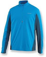 Merrell Trimaran Half-Zip Top -Men's-Apollo (Blue)-S -UPF 20 Long Sleeve 1/2 Zip
