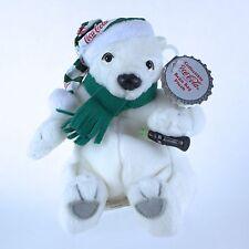 Retired COCA-COLA Polar Bear Long Striped Cap Coke Bottle Plush Beanie 1999 MWT