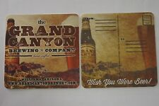 Beer Postcard Coaster ~ GRAND CANYON Brewing Co ~ Williams, ARIZONA ~ Nat'l Park