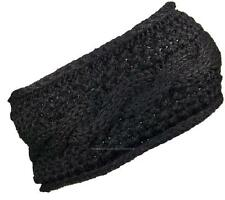 Best Winter Hats Womens Rib Stitch Cable Knit Circle Headband/Warmer #475 Black