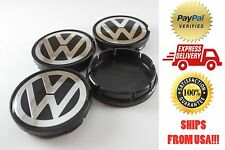 Volkswagen VW Bettle, Golf, Jetta, Rabbit, Eurovan, Passat 4x Center Caps