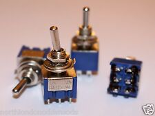 DPDT 2 Way Mini Toggle Switch 6 PIN ON - ON - 4 Pack (UK Stock)