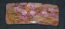 HAIR CLIP CLAUDE MONET FLOWERS WATER LILIES PAINTER IMPRESSIONIST FRANCE FRENCH