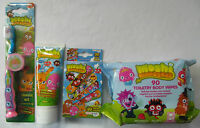 MOSHI MONSTERS 4pcs DENTAL CARE SET - Toothbrush, Toothpaste, Wipes, Plasters