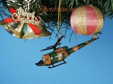 Decoration Xmas Ornament Home Decor Bell UH-1 Iroquois Huey Helicopter *K1054 F