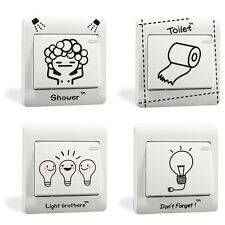4PCS Cartoon Bathroom Bedroom Light Switch Wall Sticker Decor Decal Decoration