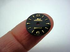 Black 12.97mm Mido Superautomatic Powerwind Vintage Watch Dial Gold Markers NOS
