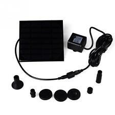 New  Solar Power Fountain Water Pump Panel Pool Garden Pond Submersible Watering