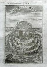 FORTRESS OF QUEEN SEMIRAMIS, BABYLON, IRAQ , A.Mallet Antique print 1719