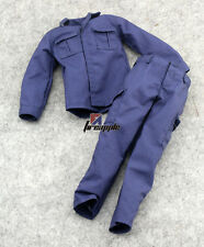 "1:6 SWAT Blue Combat Uniforms Costume Clothes Suits For 12"" Male Figure Body"
