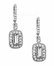 GIVENCHY Clear Pave Crystal Rhodium-Tone Drop Earrings