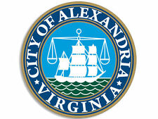 "ALEXANDRIA VIRGINIA CITY SEAL 4"" HELMET STICKER DECAL MADE IN USA"