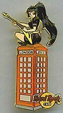 Hard Rock Cafe LONDON 2003 Telephone Box Sexy Girl Phone Booth PIN - HRC #20632