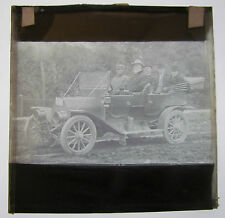 Magic lantern slide BANISH THE BAR CANADA C1910 MEN IN AUTOMOBILE TEMPERANCE