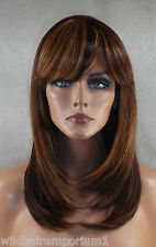 USA Auburn Mix Wig Bangs Heat Ok Iron Safe Resistant Skin Top Lol 33.32.240
