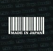 made in japan bar code vinyl decal car window sticker car graphics