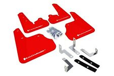 Rally Armor Mud Flaps Guards for 12-16 Impreza 4/5 Doors (Red w/White Logo)