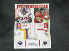 ADRIAN PETERSON &  MICHAEL TURNER DUAL GAME USED AUTHENTIC JERSEY CARD RARE 5/25
