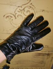 NEW LADIES BLACK LAMBSKIN LEATHER THINSULATE INSULATED 40 GRAM GLOVES DRIVING M