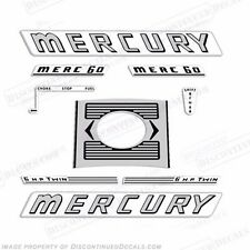 Mercury 1961, 1962, 1963 6hp Outboard Decal Kit - Reproduction Decals In Stock!