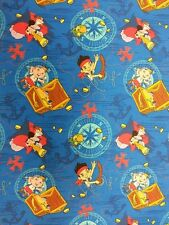 JAKE AND THE NEVERLAND PIRATES FABRIC FAT QUARTER 50 cm x 56 cm 100% COTTON GIFT