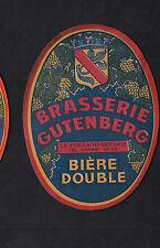 Ancienne étiquette    Alcool  France Bière  BN10197 Brasserie Gutenberg