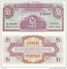 BRITISH ARMED FORCES 1 Pound 1962  FDS UNC