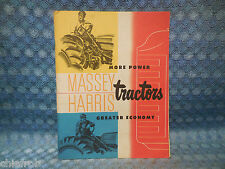 Circa 1954 Massey-Harris Tractor Sales Catalog Pony Pacer Colt Mustang 33 44 55