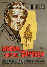 Westernplakat: EINSAM SIND DIE TAPFEREN von 1961 mit Kirk Douglas von K. Dill