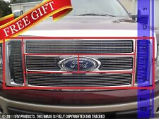 GTG, 2009 - 2012 FORD F150 LARIAT/KING RANCH 7pc CHROME BILLET GRILLE KIT