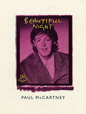 Paul Mccartney Beautiful Night Learn to Play PIANO Guitar PVG SHEET Music Book