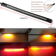 "32LED 8"" Universal Motorcycle Light Strip Tail Brake Stop Turn Signal Flexible"