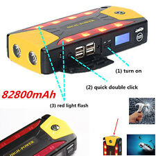 82800mAh 12V Car Jump Starter Pack Booster Charger Battery Power Bank w/ Compass