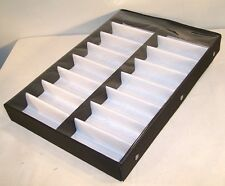 PORTABLE 16 PAIR SUNGLASS DISPLAY TRAY W CLEAR COVER glasses sales trays covered