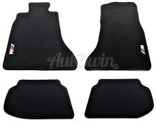 BMW 5 Series F10 F10LCI Winter Floor Mats With Rubber Background With /// M logo