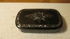 Antique Paper Mache Snuff Box Inlaid