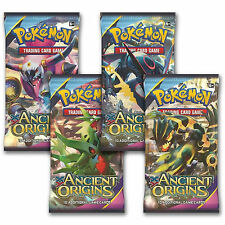 POKEMON: XY ANCIENT ORIGINS - 4 Sellado Booster Packs-NUEVA Trading Cards for 2015