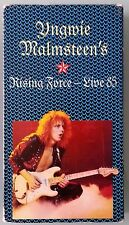 yngwie malmsteen's RISING FORCE LIVE '85 1985  VHS VIDEOTAPE
