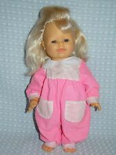 """FAMOSA BABY DOLL 14"""" 1995 BLOND SQUEEZE BELLY CRYING EXPRESSION VINYL SOFT BODY"""