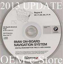 1997 to 2002 BMW 7 5 3 Series M3 M5 X5 Navigation CD Map Cover ME VT NH MA CT RI