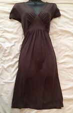 KEW (JIGSAW) Lovely Vintage Style Brown Jersey Tea Dress Size 8 UK