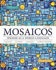 Mosaicos Spanish as a World Language 6th Edition Volume 3 Paperback Fair Conditn