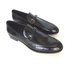 W-326245 New Ermenegildo Zegna Black Leather Loafer  Size US-11.5 / UK-10.5