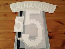 Turkey EURO 2016 Home Shirt CALHANOGLU#5 OFFICIAL SportingiD PS-Pro Name Kit Set
