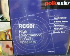 "Polk Audio RC60i White Round 6.5"" two-way in-wall/ceiling speaker (Pair) ✔NEW✔"