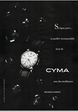 ▬► PUBLICITE ADVERTISING AD Montre Watch CYMA 1954