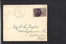 GILROY, CALIFORNIA COVER,1894, #231, BLOB CL,  SANTA CLARA CO. WILLIAMS R/3.