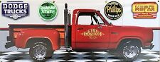 1979 DODGE LIL RED EXPRESS TRUCK GARAGE SCENE BANNER SIGN SHOP ART MURAL 2' X 5'